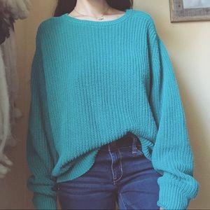Beachy Vintage Chunky Oversized Sweater